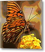 Sunlite Orange Butterfly Metal Print