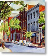 Sunny Day Cafe Metal Print