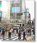 Sunny Day In Shibuya Metal Print