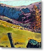 Sunny Day In The Countryside Metal Print