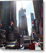 Sunny Days Manhattan Metal Print