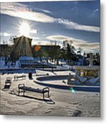 Sunny In The Snow Metal Print