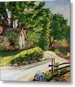 Sunny Lane At Stonycreek Farm For Prints And Greeting Cards And Iphone Covers Metal Print