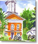 Sunny Morning On The City Square Metal Print