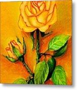 Sunny Rose Metal Print