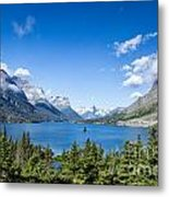 Sunny Saint Mary Lake Metal Print