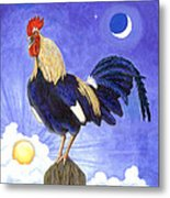 Sunny The Rooster Metal Print