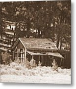 Sunny With Two Porches Metal Print