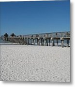 Sunny Day At Naples Pier Metal Print