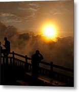 Sunraise At Watzmannhaus Metal Print
