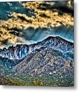Sunrays Over The Capitans Metal Print