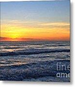Sunrise And Waves Metal Print