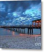 Sunrise At Anglin's Fishing Pier Metal Print