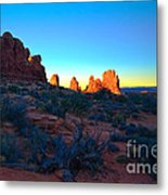 Sunrise At Arches National Park Metal Print