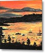 Sunrise At Bar Harbor Maine Metal Print