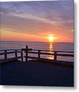Sunrise At Cape Spear St Johns Newfoundland Metal Print