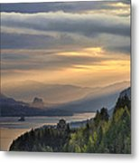 Sunrise At Columbia River Gorge Metal Print