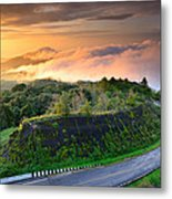Sunrise At Doi Intanon National Park View Point Thailand Metal Print
