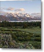 Sunrise At Grand Teton Metal Print