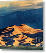 Sunrise At Great Sand Dunes Metal Print