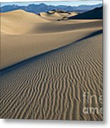 Sunrise At Mesquite Flat Sand Dunes Metal Print