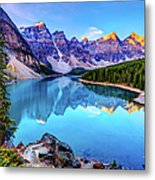 Sunrise At Moraine Lake Metal Print