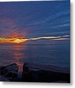 Sunrise At Otter Cliffs Metal Print
