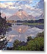 Sunrise At Oxbow Bend 4 Metal Print