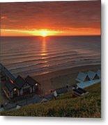 Sunrise At Saltburn Metal Print