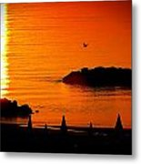 Sunrise At The Adriatic Sea Metal Print by Matteo Musso