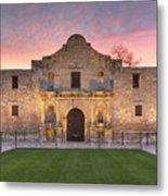 Sunrise At The Alamo San Antonio Texas 1 Metal Print