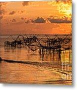 Sunrise At The Fishing Village Metal Print