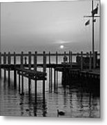 Sunrise At The Harbor Metal Print