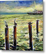 Sunrise At The Inlet By Julianne Felton 2-24-14 Metal Print
