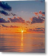 Sunrise At The Seychelles Metal Print