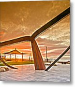 Sunrise At The Whale Tail Metal Print by Sally Nevin