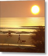 Sunrise At Topsail Island 2 Metal Print