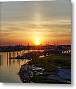 Sunrise At Two Mile Inlet - Wildwood Crest Metal Print