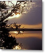 Sunrise At Yellowstone Lake Metal Print
