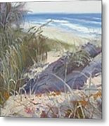 Sunrise Beach Dunes Sunshine Coast Qld Australia Metal Print