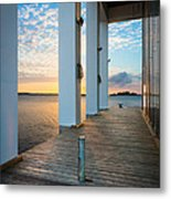 Sunrise Boardwalk Metal Print