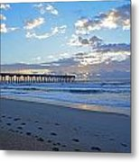 Sunrise By The Pier Metal Print