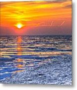 Sunrise Chicago Lake Michigan 3-9-14 Metal Print