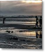 Sunrise Clam Tide Metal Print