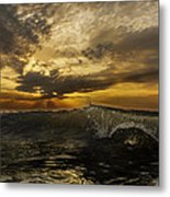 Sunrise Clear Wave  Metal Print