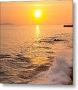 Sunrise Colors - San Francisco Bay Metal Print