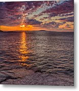Sunrise Drama Acadia National Park Metal Print