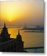 Sunrise Dubai Metal Print