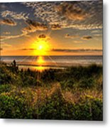 Sunrise Dune Metal Print