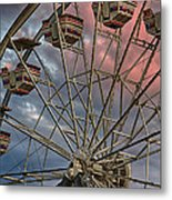 Sunrise Ferris Wheel Metal Print